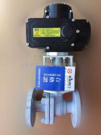 Q941F-16C DN20铸钢电动法兰球阀AC200V