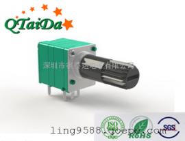 R097开关电位器单联弯脚碳膜可调控速电位器旋转电位器