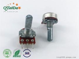 供应R148带开关旋转电位器,直插脚电位器,旋转电位器