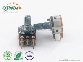 供应R148带开关调光调音调速调温电位器,可调电阻