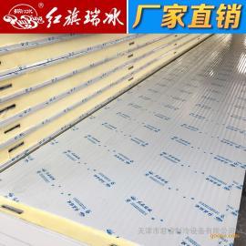 红旗聚氨酯冷库板100mm 双面彩钢冷库板定制 厂家直销