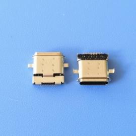 两脚沉板/TYPE C 24P防水母座 沉板0.8 双包壳 前插后贴 DIP+SMT