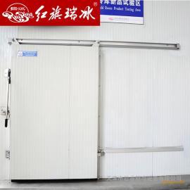 红旗冷库门手动冷库平移门可选侧滑道 材质尺寸可定制 厂家直销