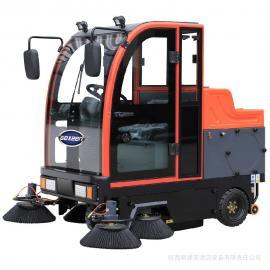 驾驶式电瓶扫地车 小区物业保洁工厂灰尘树叶电动清扫车