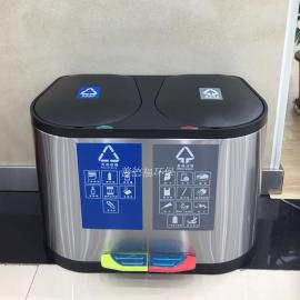 办公室不锈钢分类垃圾桶SDF-1010