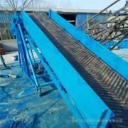 六九重工8米长度可调高低可升降型人字纹防滑型输送机Lj8dy500