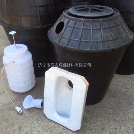 新农村旱厕改造专用双瓮化粪池双翁式塑料化粪池厂家直销PE材质
