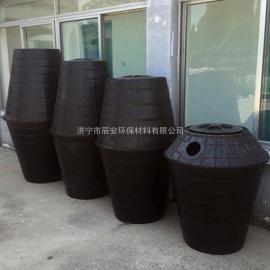 厂家直销新农村旱改厕专用双瓮化粪池双翁式塑料化粪池PE材质