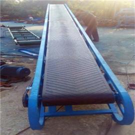 平托辊橡胶条挡边输送机 单排槽钢水平托辊输送机