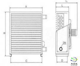 S534型冷热水暖风机 S534型冷暖风机生产厂家翅片管散热器