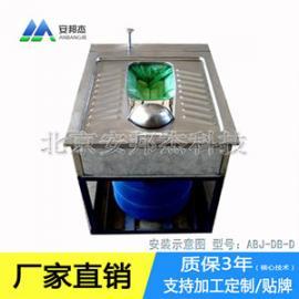 内蒙厕所不锈钢免冲水打包蹲便器生产厂家