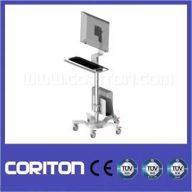 医疗查房 液晶显示器手推车支架落地移动可升降电脑支架