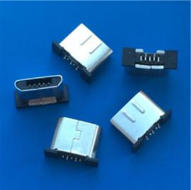 立式贴板/MICRO 5P公头 安卓无线充端子 迈克SMT贴片公头