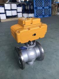 VQ947H-16C DN65铸钢电动法兰V型球阀