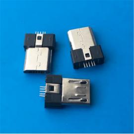 3.0超薄 MICRO 5P公头 SMT贴板 无脚无卡勾 带弹片