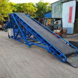 砖块装卸车用皮带输送机 9米长钢丝绳升降圆管输送机