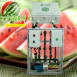 西瓜施肥机械 大棚西瓜种植智能操作自动灌溉水肥一体化设备