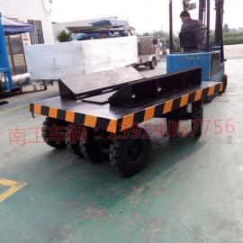 10吨车间工件铁皮卷圆桶运输平板拖车