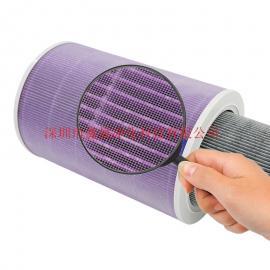 工厂直销小米滤芯 空气净化器1代2代抗菌紫色Hepa过滤网