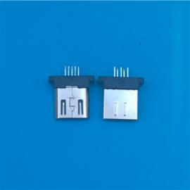 MICRO 5P�A板公�^ �L度8.3 180度立式插板 �o�_�o卡勾 黑�z�o��