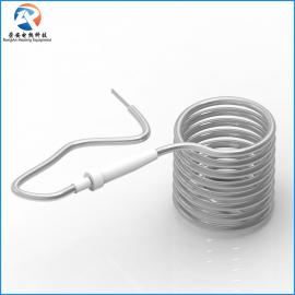 铁氟龙加热管 单头浸入式铁氟龙发热管 化抛电镀金电热管