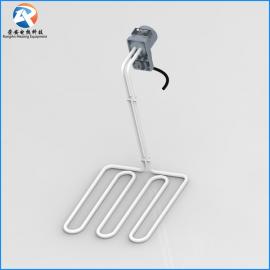 铁氟龙发热管 Z字 W型耐酸碱电镀铁氟龙液体电加热管 非标定制