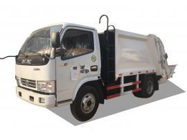 东风蓝牌压缩式垃圾车4方小型后装挂桶垃圾清运车厂家