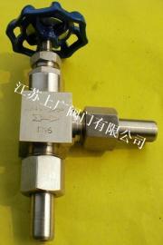 J24W-160P不锈钢外螺纹角式针型阀