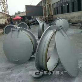 环保型圆形铸铁拍门dn1.5米,鱼塘专用铸铁拍门结构特点