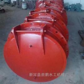 钢制拍门厂家,铸铁圆形拍门dn1米