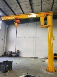 仓库物料吊运悬臂起重机 立柱式移动式悬臂吊 2t电动旋转悬臂吊