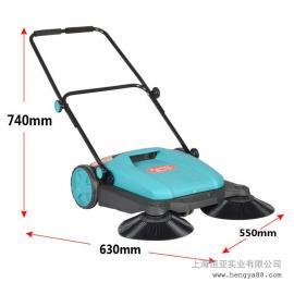 工厂工业手动扫地车马路道路清扫车物业无动力滚刷手推式扫地机