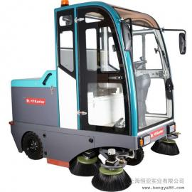 凯叻KL2100驾驶式全封闭扫地机工厂物业用电瓶式无尘道路清扫车