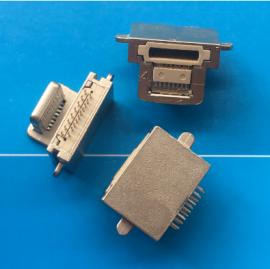 苹果8P公头+16P夹板二合一插座 粉末冶金公母一体式USB