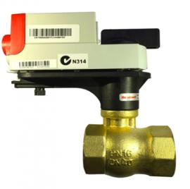 霍尼韦尔螺纹电动二通球阀VBA216-P/MVN电动阀门执行器整套