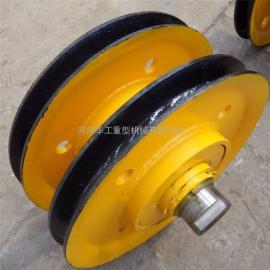 耐高压耐磨港机滑轮组 吊钩定滑轮组 16t轧制滑轮组 滑轮片