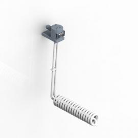 L螺旋型铁氟龙发热管 380V 3KW 电镀化抛槽电热管 聚四氟乙烯
