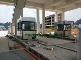单向收费亭 高速公路收费岗亭 1.5×2.5×2.5米 收费站专用亭
