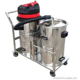 德克威诺DK80-2大容量双桶式工业吸尘器吸木屑粉尘颗粒吸尘器