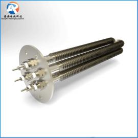 厂家直销法兰翅片式不锈钢304发热管 空气干烧电加热管