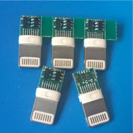 IPhone 5带板充电公头 包胶2.5MM 16P焊线式 带PCB板