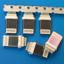 加长分体式/苹果5 6 7夹板公头 加长8.8 分体0.6 充电插头