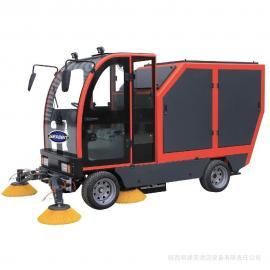 树叶清扫车,大容量电动落叶垃圾扫地车电瓶扫路车生产厂捷恩品牌