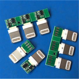 插板式/苹果5 6带板公头 过2A 五颗料焊线 传输充电IPhone公头