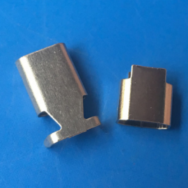 苹果C48转接头屏蔽壳 USB不锈钢外壳 椭圆形 六角形外壳