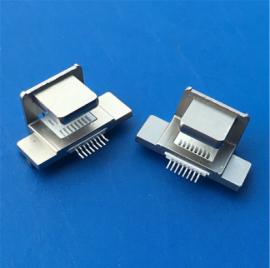 二合一/苹果 8P Lighting锌合金背夹公头 贴片SMT