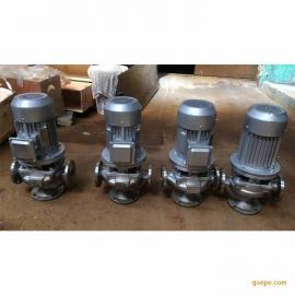 gw型耐酸碱管道泵32GW12-15-1.1型号齐全 不锈钢立式管道排污泵