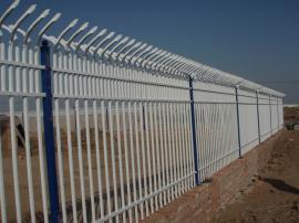 锌钢护栏白色栅栏小区锌钢栏杆三梁加花型锌钢栅栏外墙防护栅栏