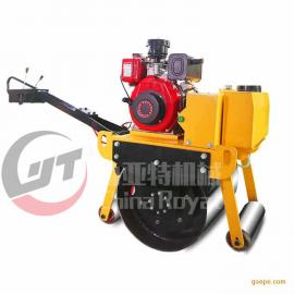 小型压路机振动 手扶式单钢轮压路机 草坪压实机轧道机