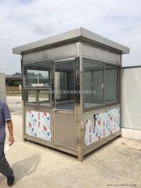 钢结构岗亭生产商-pvc挂板岗亭定制-金属保安岗亭